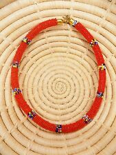 New African Maasai Beaded Choker Necklace Masai Massai ethnic tribal boho jnmr64