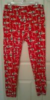 Lularoe Halloween Mummy Leggings TC Tall and Curvy Red