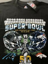 NFL SuperBowl 50 Majestic Mens T Shirt Size Large(Panthers 2016 Broncos)New Tags