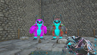 Ark Survival Evolved Breeding Pair of Snow owls cyan PVE Xbox ONE Official