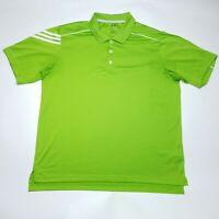 Adidas Golf Clima Cool Three Stripe Green Short Sleeve Polo Shirt Mens Size XL