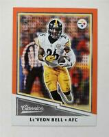 2017 Classics Timeless Tributes Orange #51 Le'Veon Bell /25 - NM-MT