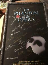 Phantom of the Opera Signed Poster 1990 Chicago Signed By Original Chicago Cast