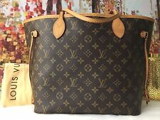 Auth LOUIS VUITTON Monogram Canvas Neverfull MM Medium Tote Shoulder Bag