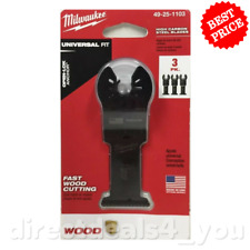 Milwaukee 49 25 1103 Oscillating Multi Tool Blade Kit 3 Piece