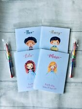 kids, boy, girl personalised wedding activity book, pack, favour with pencil