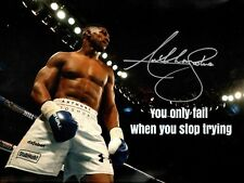 Anthony Joshua A4 260gsm quote  Photo Picture