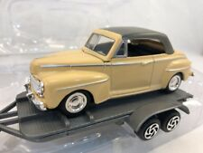 FORD F-150 pulling a double axle trailer with a 1948 Ford Deluxe 1:43 Scale