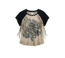 Harley-Davidson Women's Fringe Accent Raglan Sleeve Shirt 96075-17VW Size : M