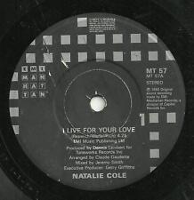 NATALIE COLE - I LIVE FOR YOUR LOVE - EMI 1989 -ORIGINAL 80s SOUL FUNK POP VOCAL