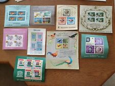 Selection of used postage stamps and mini sheets Ghana, Maldives,Ceylon & more