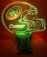 SF 49ers Lamp LED Light Up Night Light With Remote and Personalized Free NFL