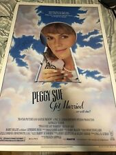 Kathleen Turner Signed Peggy Sue Got Married 1 sheet Movie Poster!!