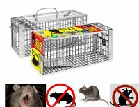 New Large Metal Mouse Live Trap Rat Vermin Rodent Catcher Easy Bait Humane Cage