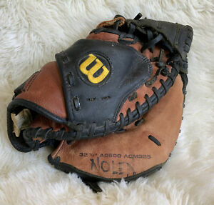 """Wilson A500 Catchers Mitt Glove 32.5"""" A0500 ACM325 Leather Baseball RIGHT Youth"""