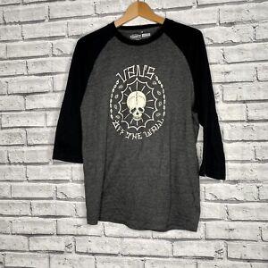 Mens Vans Classics Biker Art T Shirt Black L Large Skull OFF THE WALL