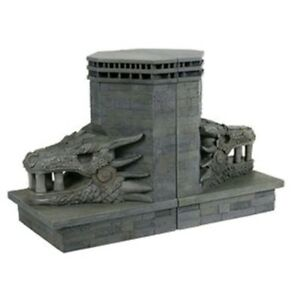 GAME OF THRONES DRAGONSTONE GATE DRAGON BOOKEND STATUE CASE FRESH!