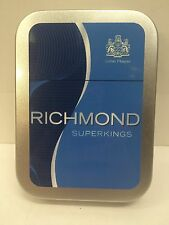 Richmond Superkings Advertising Brand Cigarette Tobacco Storage 2oz Hinged Tin
