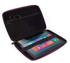 10 Black Carry Case for Lenovo ThinkPad Tablet 2 in Water Resistant Rigid Eva
