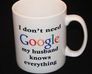 Personalised Mug, Birthday Gift, Google, Husband,  all occasions handmade