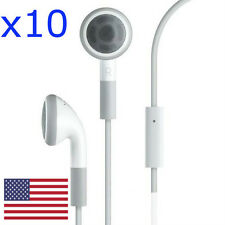 Lot of 10 Wholesale Earphone Headphone w/ Mic for iPhone 4 4s 5 3G 3GS iPod