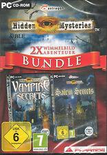PC CD-ROM + Hidden Mysteries + 2 scrutare AVVENTURA + vampiri + Win 7 + 2012