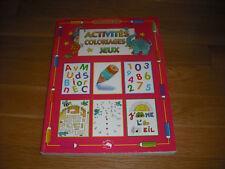 Piccolia Activites coloriage Jeux Educatif 5-8y by Elizabeth Dorval French New