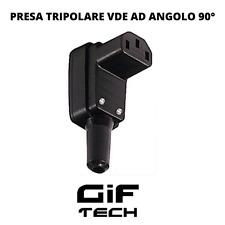 PRESA VOLANTE TRIPOLARE VDE PIPA ANGOLO 90° ALIMENTAZIONE C13 250V 10A IEC PLUG