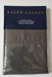 Ralph Lauren 624 Solid Sateen Met Grey Standard Pillowcases NIP $115