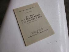La rupture de Charles Péguy et de Georges Sorel .. Péguy, Marcel ..ex numeroté