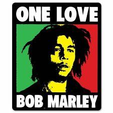 """Bob Marley ONE LOVE reggae Vynil Car Sticker Decal    4 Pack  2.5"""""""