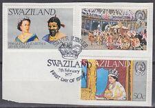 Swaziland 1977 Θ Mi.266/68 Regentschaft Silver Jubilee Queen Elizabeth [sq7118]