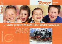 Roco Modelleisenbahnen Prospekt 2005 Modellbahn brochure model railway Katalog