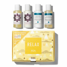 REN RELAX SKINCARE Kikki K GIFT SET BODY WASH LOTION Rose Kelp Travel size NEW