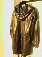 RUFFO caban avec capuche en cuir d'agneau - Lamb Leather 42 <> 46 Leder Jacke