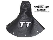 """Pour Audi TT 98-06 Soufflet Levier De Vitesse Cuir """"TT"""" Gris Broderie"""