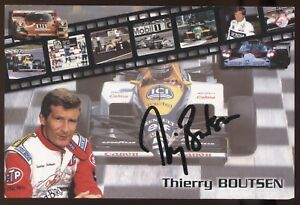 Thierry Boutsen Signed Photo Card Formula One Autographed
