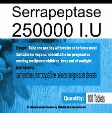 Serrapeptase 250000IU Tabs Mega Potencyenteric coated
