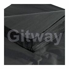 "480 Pcs 30"" x 20' Black High Gift Grade New Premium Wrapping Satin Tissue Paper"
