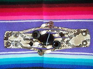 $265 Python Leather Gemstone Agate Pearl Smoky Topez Bracelet~SUZY T Designs