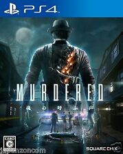 MURDERED SQUARE ENIX SONY PS4 PLAYSTATION JAPANESE NEW JAPANZON