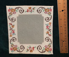 "Doll House Carpet / Rug Miniature 6"" square  Antique style Vintage Needlepoint"