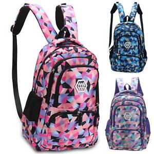 Unisex Boys Girls School Large Backpack Travel Rucksack Shoulder Laptop Bags UK