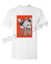 Retro T Shirt Tee 100% Cotton White Pin Up Girl Lingerie Vtg Photo Art Burlesque