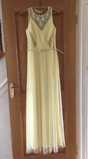 NEW DEBENHAMS LACED IN LOVE BALLGOWN PARTY BRIDESMAID YELLOW DRESS SIZE 10