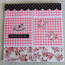 Handmade ENDLESS card Welcome Little One For Your Shower watch video for details