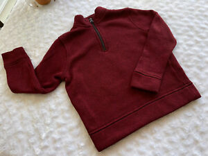 Kids Youth - Old Navy - Maroon 1/4 Zip Pullover Sweater Boys Size Small (6-7)