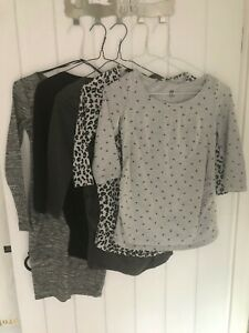 5 x long-sleeved MATERNITY tops/dress - H&M Mama  8-10 ( XS & S )