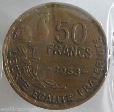 50 francs guiraud 1953 : TB : pièce de monnaie française