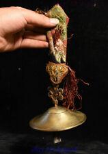 Old Tibet Buddhism Silk ox horn Brass conjure rattles cymbals Bell Bells FaQi